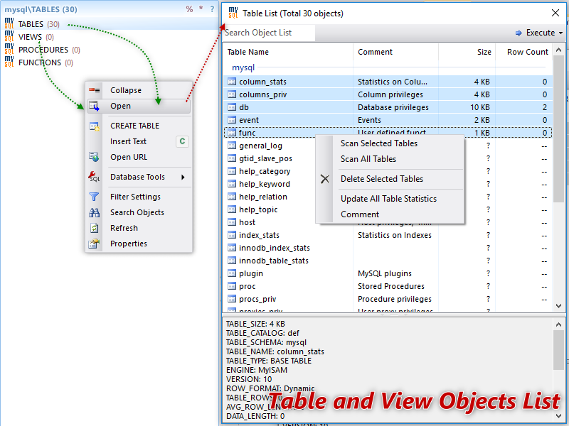 Database  NET Features